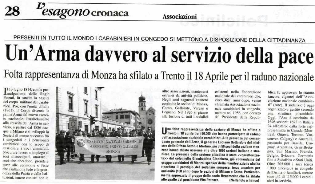 Rassegna stampa – Associazione Nazionale Carabinieri